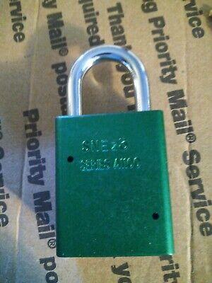 1 American Lock - Series A1105 1-12 Green Aluminum Body Padlock - Nib