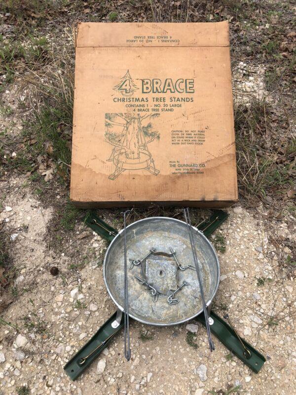 Vintage Gunnard ~ Heavy Duty 4 Brace ~ Christmas Tree Stand   # 20 LARGE
