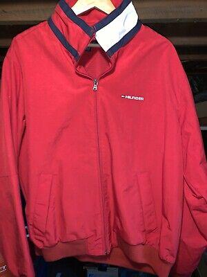 Tommy Hilfiger Men's Nylon Jacket Wind Water Resistant NWOT Red Sz Large
