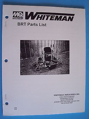 Mq Whiteman Power Trowel Brt Parts List  Pn 2763 595
