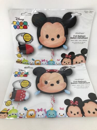 "Disney Tsum Tsum Mickey & Minnie Mouse Balloon 12x19"" Stacka"