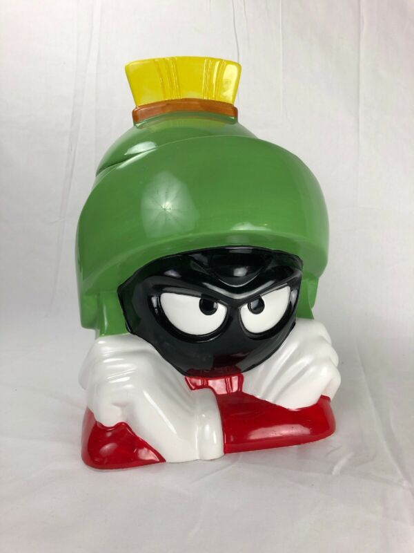 Marvin The Martian 1998 Talking Ceramic Cookie Jar Gibson Houseware Looney Tunes