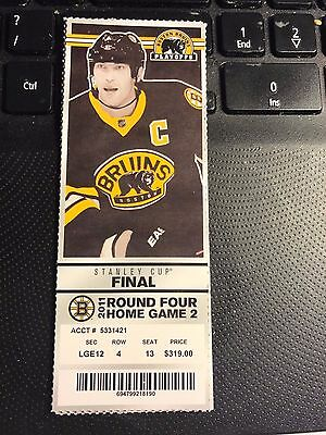 2011 BOSTON BRUINS VS VANCOUVER CANUCKS TICKET STUB STANLEY CUP FINALS GAME 4