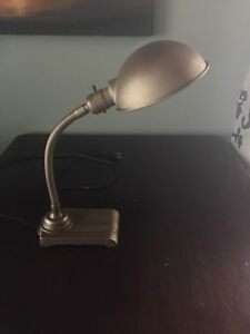 Antique refinished desk lamp