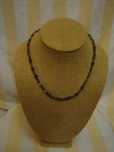 Vintage 14/20 14K Gold Filled Multi-Color Crystal Chocker Necklace 18 Inches