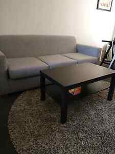 3 Seater , coffee table , T v unit and Rug Brighton-le-sands Rockdale Area Preview