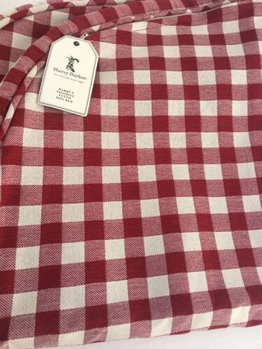 NWT HARRY'S FAVORITE FUTON Large Red Check Dog Bed Cover H