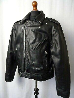 Men's Vintage HIGHWAY 1 Leather Biker Jacket 50R (XXXL)