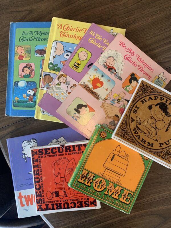 Vintage Charlie Brown Books Lot Of 5 HC