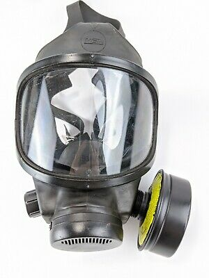 Msa Phalanx Policemilitary Gas Mask With Carrier And Filter Size Medium Shtf