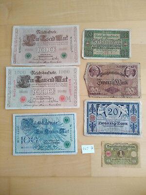 7  verschiedene Geldscheine (Lot 7)