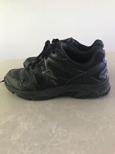 Ascent leather school shoes, black, US 3, UK 3