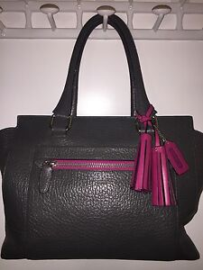 Coach Legacy Textured Leather Medium Candace Carryall - Graphite