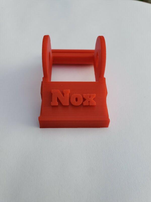 Custom NOX Metal Detecting Red coil ear stiffener for MineLab Equinox 600/800