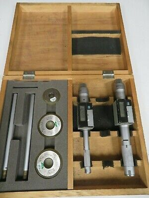 Mitutoyo Holtest Digimatic .5-.65 .8-1 Bore Gage Set W Case Rings - Nm56