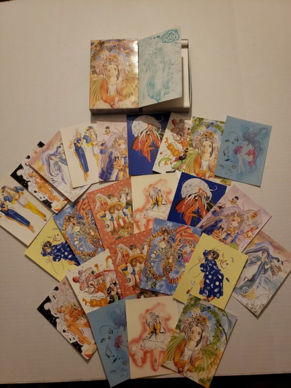 Vintage Ah! My Goddess Post Card Collection Book with 24 Post Cards total
