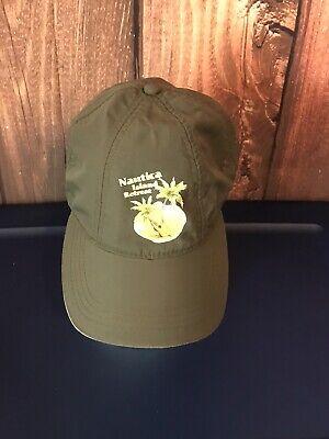 Nautica Island Retreat  Men's Olive Green Nylon Cap