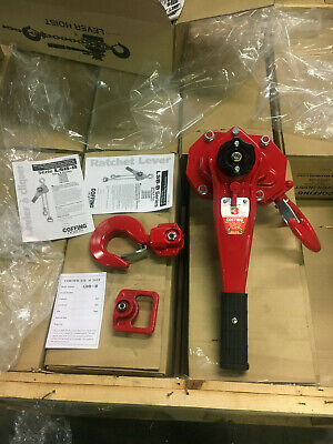 Coffing LSB Ratchet Lever Chain Hoist 3 Ton No Chain L5B-6000B Coffing Lever Hoist
