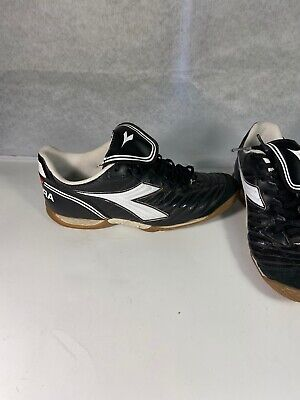 Diadora Brasil Indoor Soccer Shoe Leather size 8.5 men fast shipping football.  Diadora Indoor Soccer