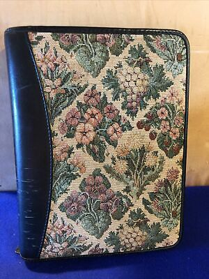 Franklin Covey Planner Binder Classic Size Leather Needlepoint