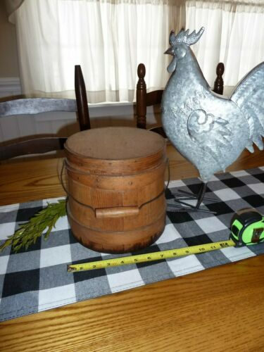 Small Antique Pine Firkin !  Small early Sugar Bucket AAFA