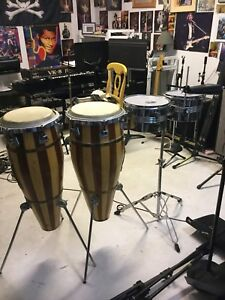 Bongo drums and Timbales