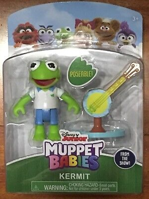 DISNEY JUNIOR Muppet Babies KERMIT Poseable Figure & Accessory New Sealed - Muppets Accessories