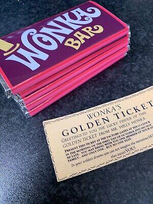 2x BIG Willy Wonka Chocolate Bar Gift Novelty Item Golden Ticket Inside Birthday