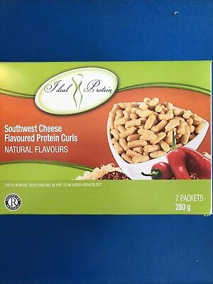 Ideal Protein Southwest Cheese Flavoured Protein Curls - 7 Packets-EXP 10/31/20