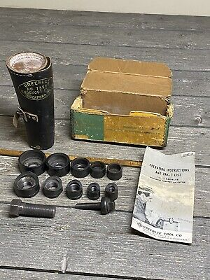 Greenlee No 735bb Ball Bearing Knockout Punch Set 12 To 1-14 In Leather Case