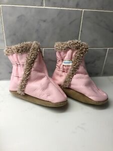 Robeez Pink Boots Soft Sole