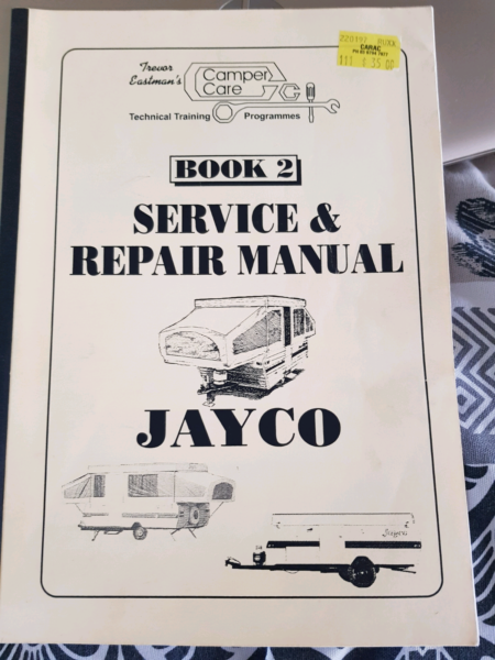 Jayco camper van repair manual | Caravan & Campervan
