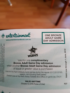 Perth Wildcats voucher
