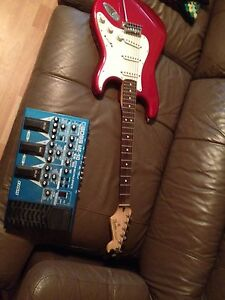Strat and effects pedal