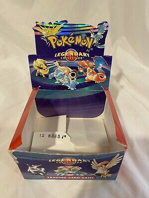 Pokemon Legendary Collection Booster Box EMPTY Damaged