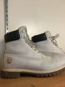 White Timberland Foot Locker Limited Edition Boots