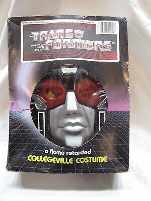 VTG 1984 HASBRO TRANSFORMERS DYNABOT COLLEGEVILLE HALLOWEEN COSTUME IN BOX~VG