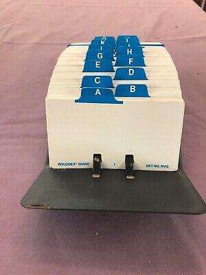 Vintage Rolodex File Jr. V524j Metal Desktop Card File Tray Office Organizer F22