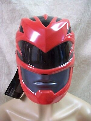 Red Ranger Costume Face Mask Robot Mighty Morphin Licensed Power Rangers Ages 4+ (Red Power Ranger Mask)