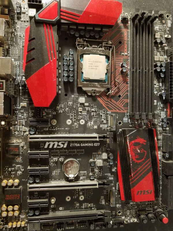 MSI Z170A GAMING MOTHERBOARD M7 + g4620 combo deal (plz read)