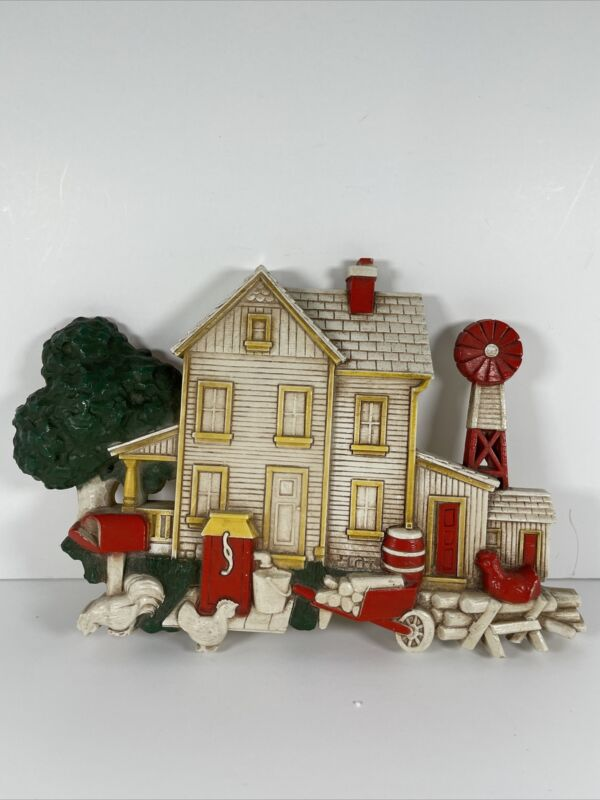 Vintage Homco Hanging 7369  Country Farmhouse Decor Chicken Windmill