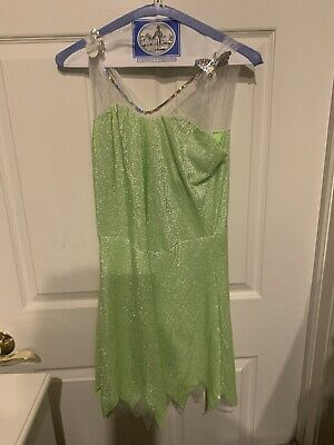 Disney Classics Tinker Bell Costume Adult Size Large 12-14 Dress Only