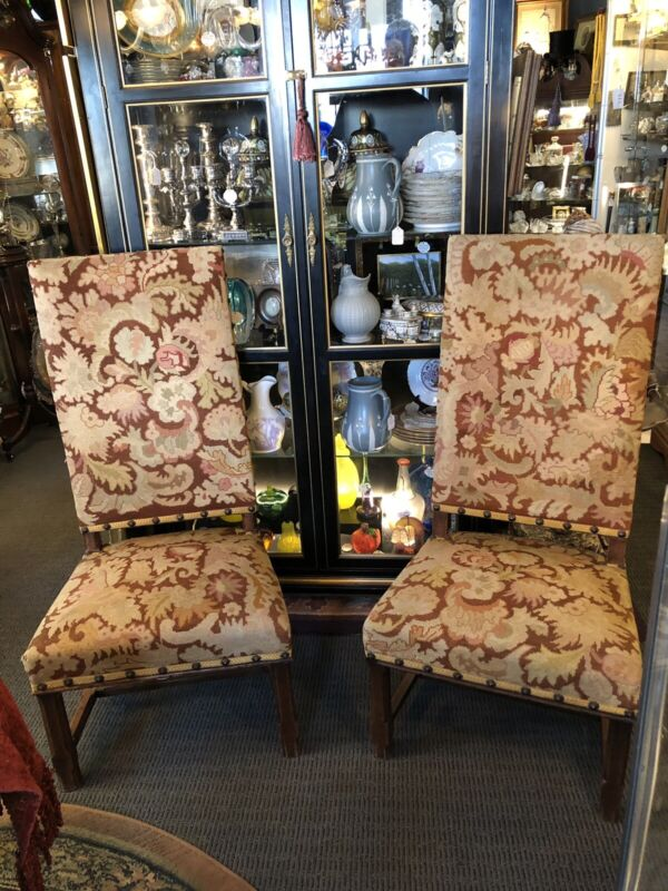 Pair Late 17th Early 18th Century Fireside Chairs Arts & Crafts Upholstery