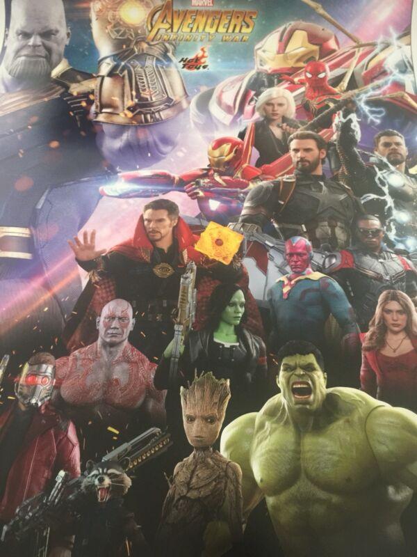 SDCC 2018 Avengers Infinity War Endgame THANOS Sideshow Toy Figure Art Poster