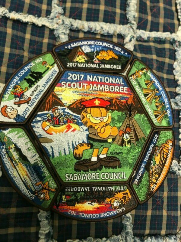 2017 National Jamboree Garfield BSA Patch Set