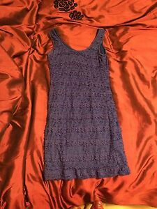 Deep blue dress woman's
