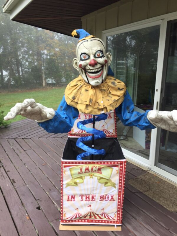 6FT HALLOWEEN DREADFUL DREAMS ANIMATED JACK IN THE BOX SOLD OUT EVERY WHERE! NEW