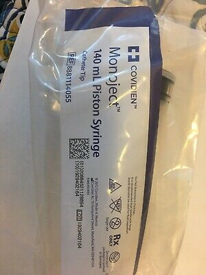 Covidien Monoject 140ml Piston Syringe Catheter Tip