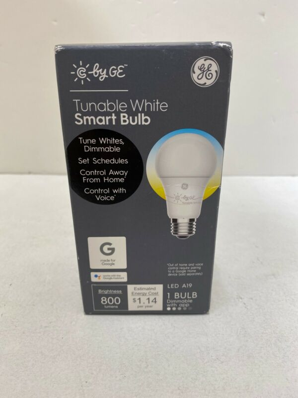 Smart LED Bluetooth Light Bulb C App Controlled by GE - C-Sleep A19 White