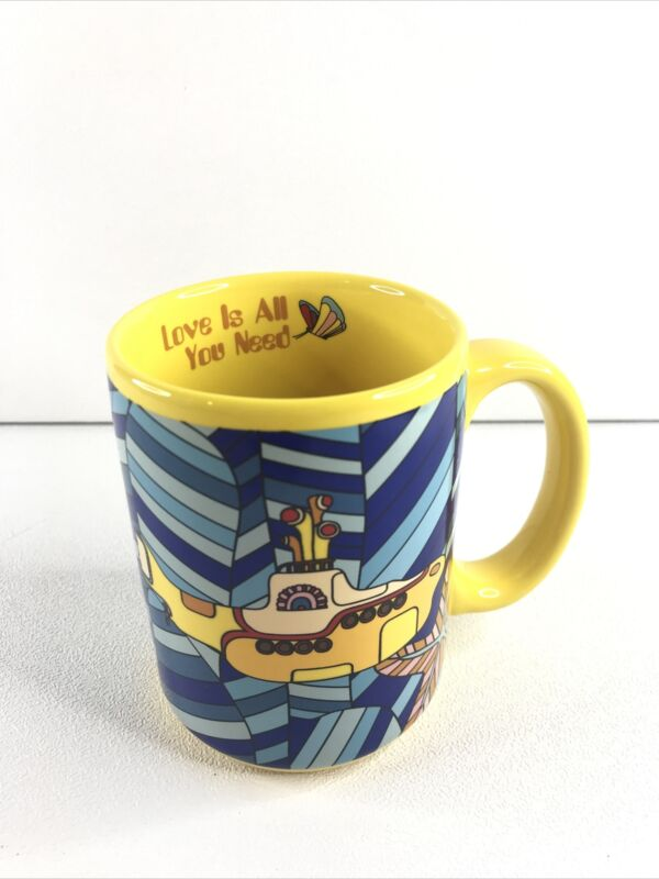 "Beatles Yellow Submarine ""Love Is All You Need"" Vandor Coffee Mug 2008"